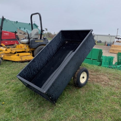 14 Cu.ft Metal Tow Behind Cart - Used #4136