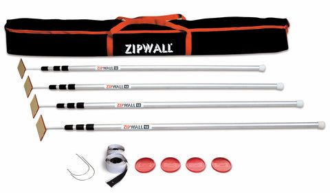 ZipWall® 12 - 12' Pole - 4-Pack (7756008005)