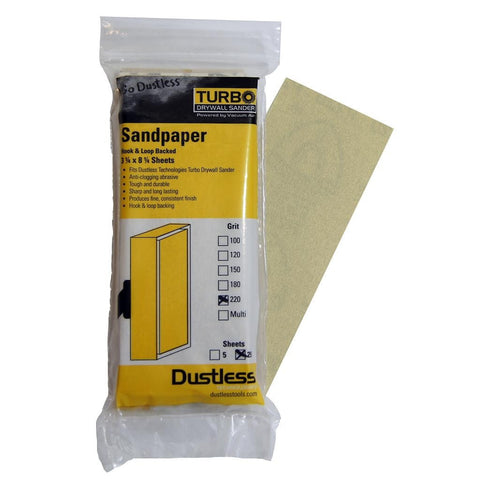 Dustless Sandpaper 220 Grit 25 Pack