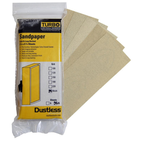 Dustless Sandpaper Multi Pack 25 Pack