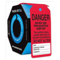 CEO Tags By-The-Roll - TAR111  Do Not Use This Scaffold Keep Off
