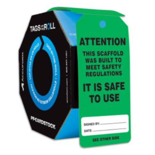 CEO Tags By-The-Roll - TAR731 Scaffold Is Safe To Use (956290727972)