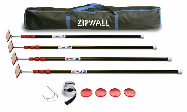 ZipWall® 10 - 10' Pole - 4-Pack (7749780357)