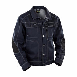 CLEARANCE - Blaklader 4059-1140 Craftsman Denim Jacket (Navy Blue/Black) (4366307393667)