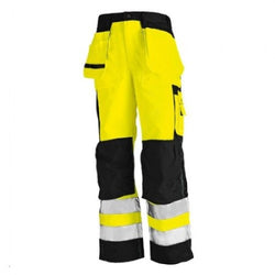 CLEARANCE - Blaklader 1633-1804 Hi-Vis Work Pants Yellow/Black (4367746957443)