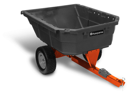 Husqvarna 12.5 cu. ft. Poly Swivel Utility Dump Cart (417779187748)