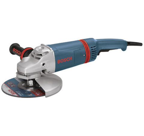 9 In. 15 A Large Rat Tail Angle Grinder with No Lock-On Switch