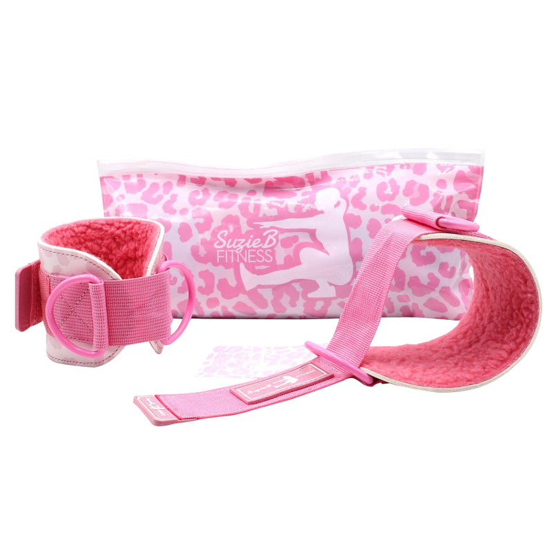 PINK LEOPARD ANKLE STRAPS