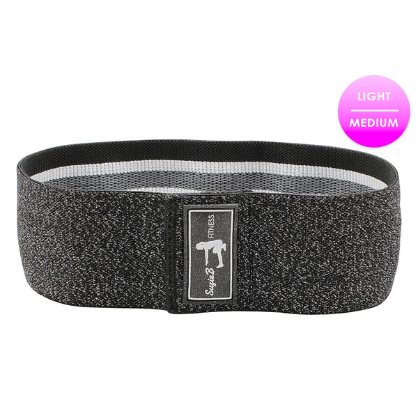 BLACK SPARKLE GLUTE BAND