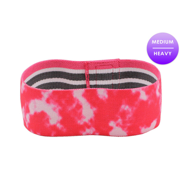 Buy Dark Pink Tie Dye Glute Band - SuzieB Fitness