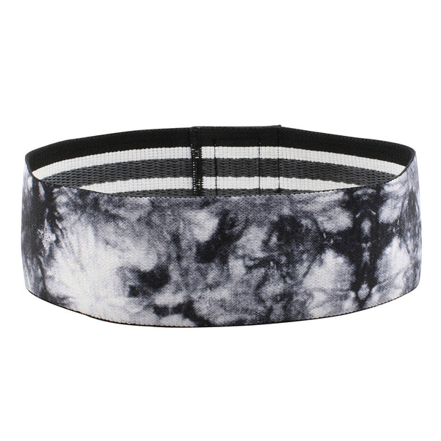 BLACK & WHITE TIE DYE GLUTE BAND
