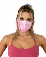 PINK DYE CLOTH MASK