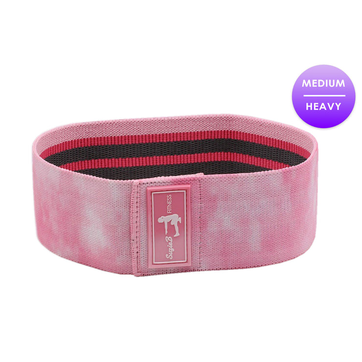 Online Buy Light Pink Tie Dye Glute Band - SuzieB Fitness