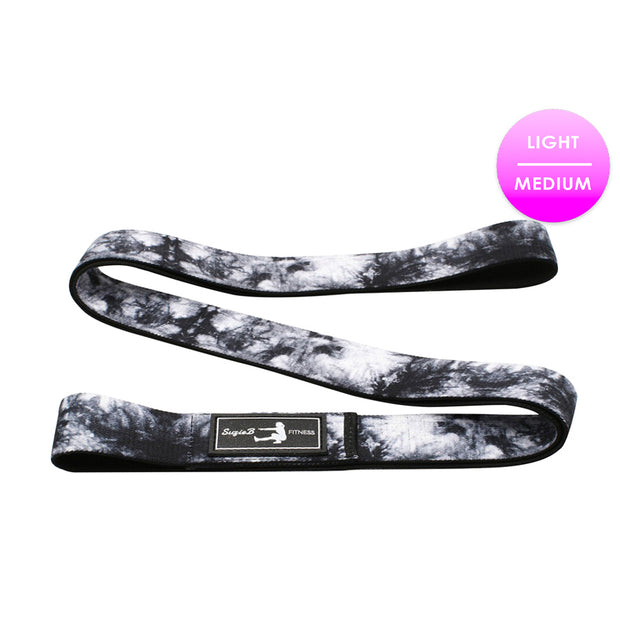 BLACK & WHITE TIE DYE LONG BAND