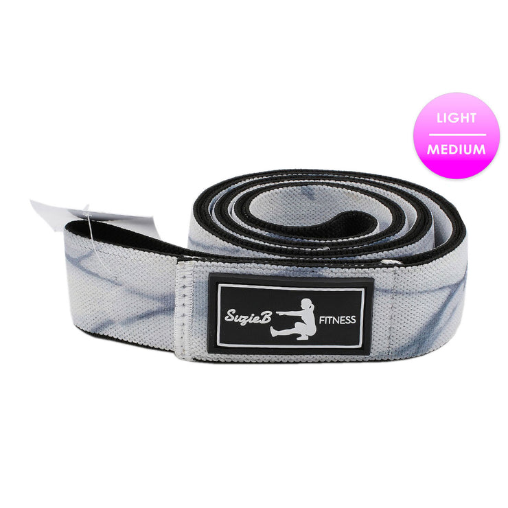 Online Buy White Marble Long Band - SuzieB Fitness