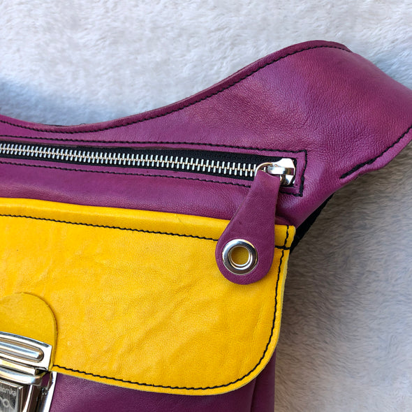 Special Summer Purple & Yellow · Piel natural BioCuir® · Pieza Exclusiva Núm. 7413
