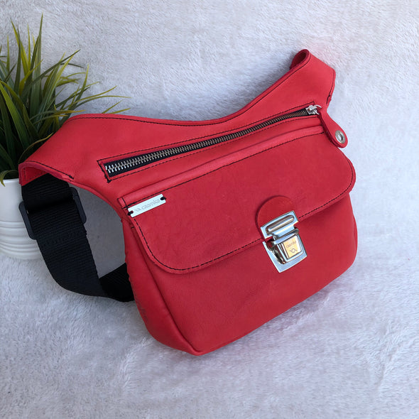 Classic Red & Silver · Piel natural BioCuir® · Pieza Exclusiva Núm. 8185