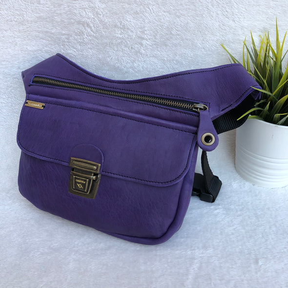 Classic Purple & Old Gold · Piel natural BioCuir® · Pieza Exclusiva Núm. 8231