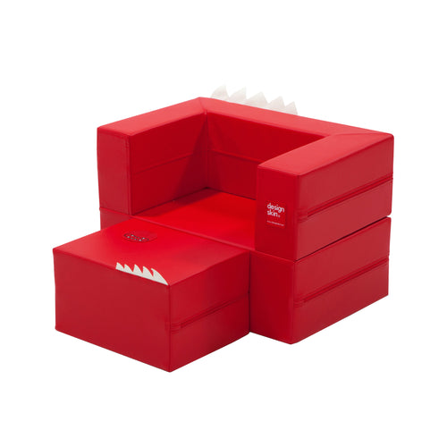 DesignSkin Cake Sofa Transformable Play Furniture, Red