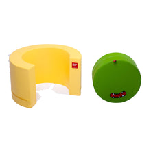 DesignSkin Tunnel Sofa Transformable Furniture, Green & Yellow