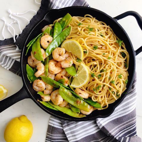 Garlic Shrimp and Snow Peas by Sneaky Mommies