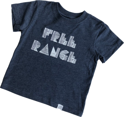 """Free Range"" Toddler T-shirt in Navy"