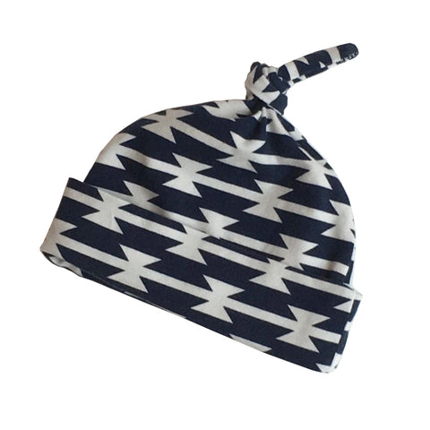 Navy Knot Top Hat