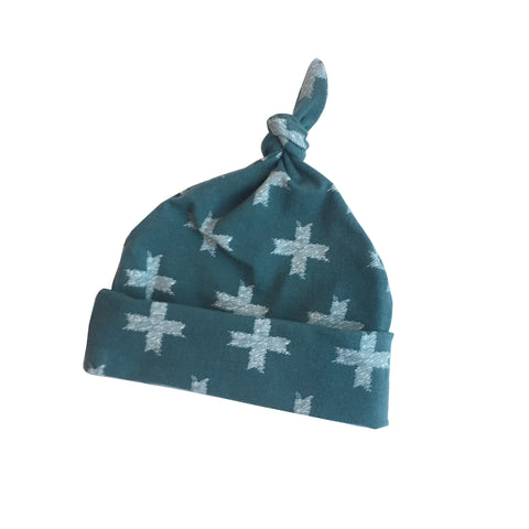Blue Cross Knot Top Hat