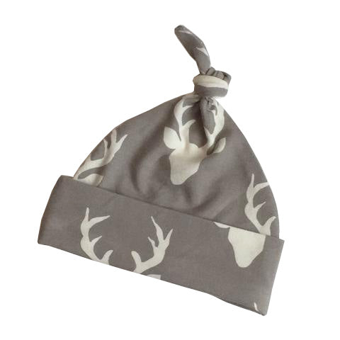 Grey Deer Knot Top Hat