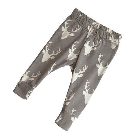 Grey Deer Baby Leggings
