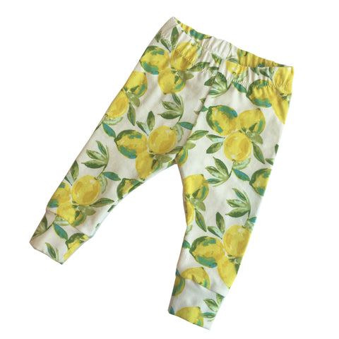 Lemon Baby Leggings