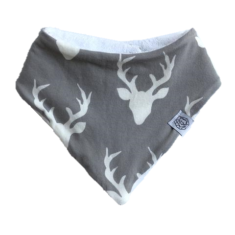 Grey Deer Bandana Bib