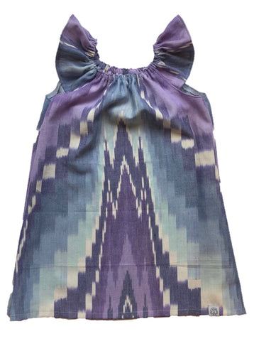 Ruffle Tunic Dress in Ikat