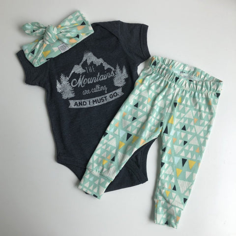 Mint Baby Gift Set