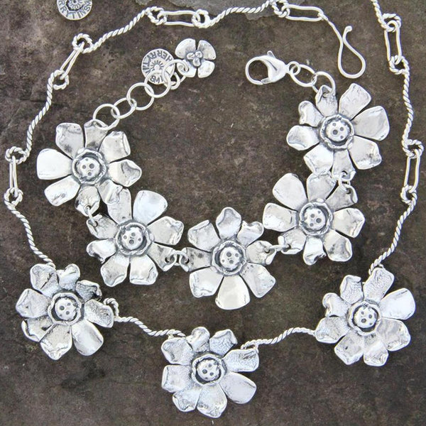 Sterling Silver Sunflower Jewelry Set