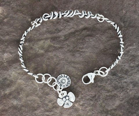 Sterling Silver Wrapped Vine Bracelet
