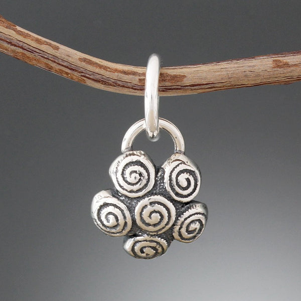 Sterling Silver Spiral Cluster Pet Tag