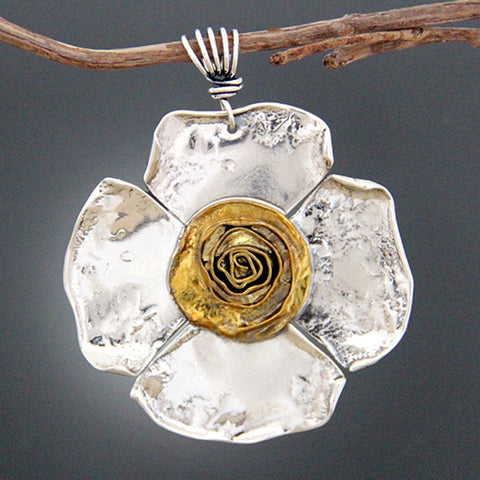 Statement Petal Rose Pendant