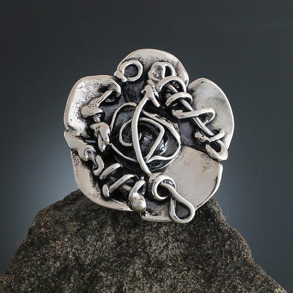 Abstract Vine Flower Ring