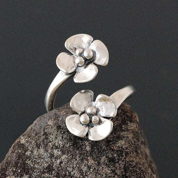 Sterling Silver Small Dogwood Flare Ring