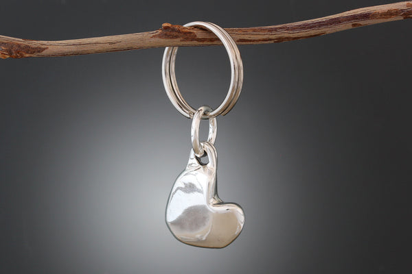 Sterling Silver Heart Pet Tag