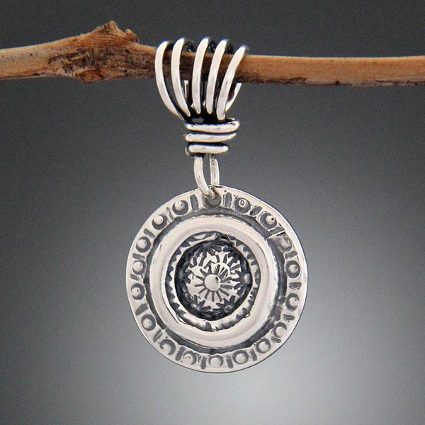 Sterling Silver Sun Stamped Pendant