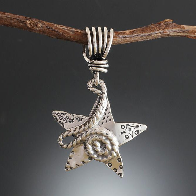 Sterling Silver Rope Star Pendant