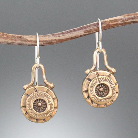 Bronze Element Earrings