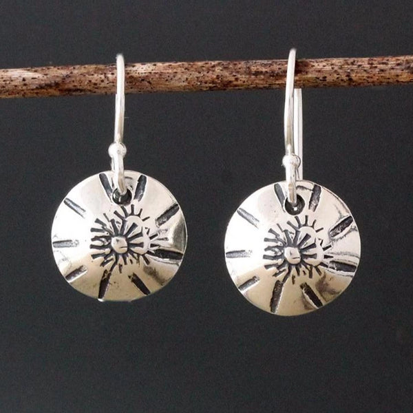 Sunburst Stamped Earrings