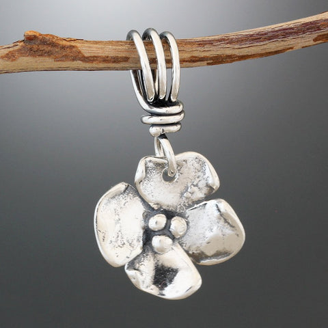 Sterling Silver Dogwood Flower Pendant