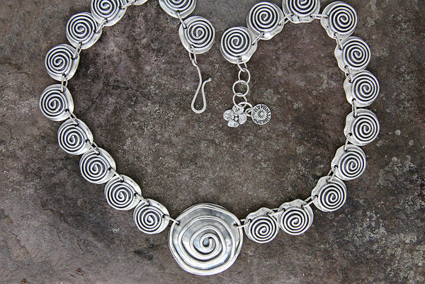 Sterling Silver Spiral Jewelry Set