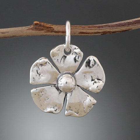 Sterling Silver Flower Pet Tag