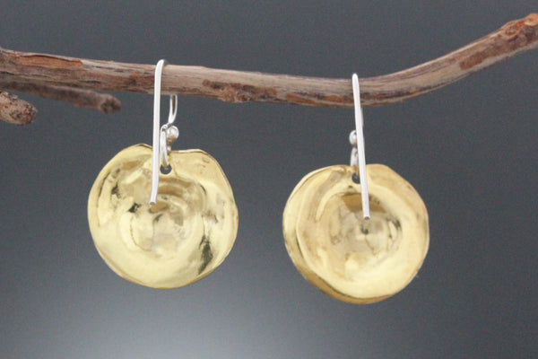 Brass Spiral Earrings