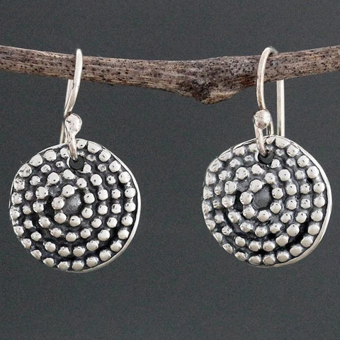 Beaded Spiral Earrings